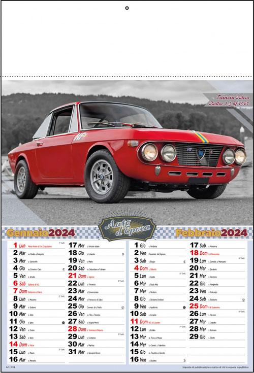 Calendario Auto.Calendario Auto Storiche